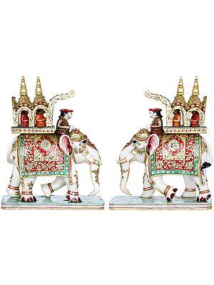 Pair of Royal Elephant Palki