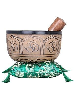 OM Ganesha Singing Bowl - Tibetan Buddhist