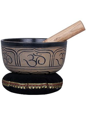 Ganesha and OM Singing Bowl - Tibetan Buddhist