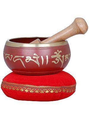 Tibetan Buddhist Five Dhyani Buddhas Singing Bowl