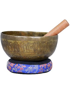 Tibetan Buddhist Shakyamuni Buddha Singing Bowl - Made in Nepal
