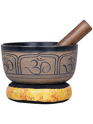 Ganesha Singing Bowl with OM - Tibetan Buddhist