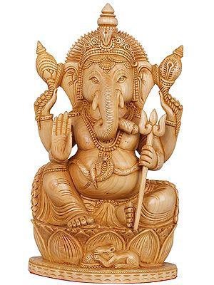 Bhagawan Ganesha Holding a Trident