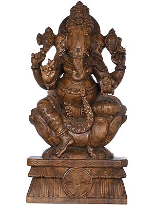 Ganesha Virajman on Lotus