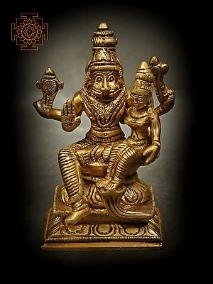 Bhagawan Narasimha with Devi Lakshmi