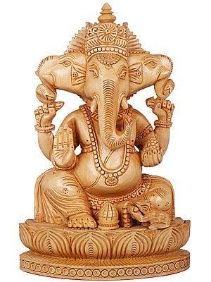 Three Headed Blessing Ganesha