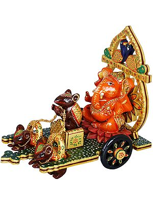 Lord Ganesha on Peacock Chariot