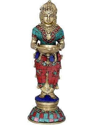 Deepalakshmi with Inlay Work
