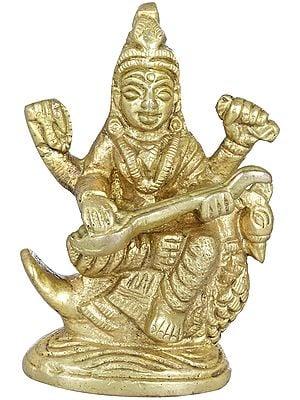 Goddess Saraswati (Small Statue)