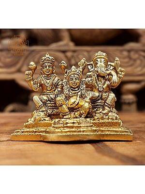 Small Size Lakshmi Ganesha and Kubera