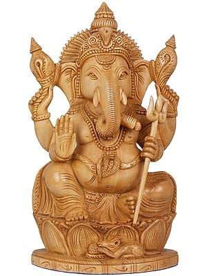The Trident Holding Ganesha