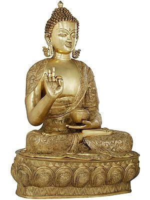 The Gracious Buddha, Clad In A Luxuriant Robe