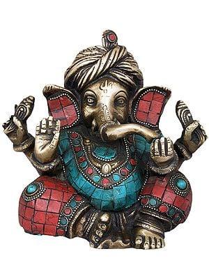 Inlay Ashirwad Ganesha