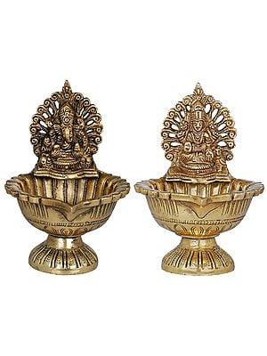 Lakshmi Ganesha Lamp