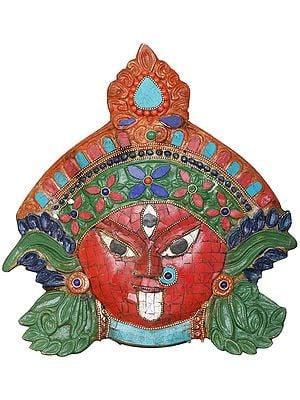 Goddess Kali Inlay Mask - Wall Hanging