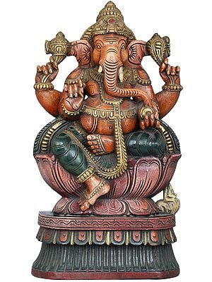 Lord Ganesha Seated in Lalitasana