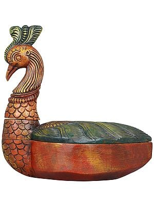 Decorative Peacock Box