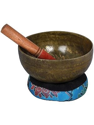 Tibetan Buddhist - Bhumisparsha Buddha Singing Bowl (Made in Nepal)