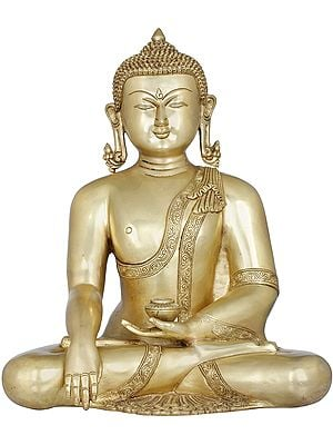 Tibetan Buddhist Lord Buddha with Pinda-Patra