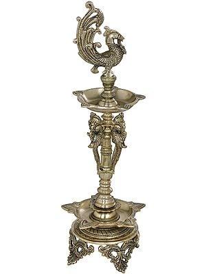 Peacock Puja Lamp