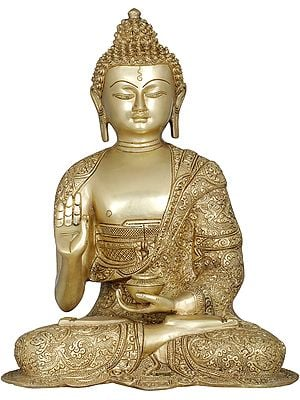 Tibetan Buddhist Lord Buddha Interpreting His Dharma