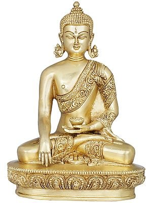 Shakyamuni Buddha Seated on Lotus Seat - Tibetan Buddhist