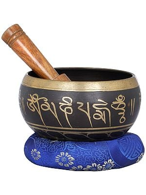 Lord Buddha Singing Bowl with Mantras - Tibetan Buddhist