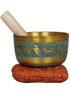 Tibetan Buddhist Singing Bowl with Auspicious Mantras
