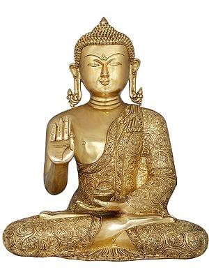 Gautama Buddha in Lotus Pose (Padmasana) - Tibetan Buddhist Deity