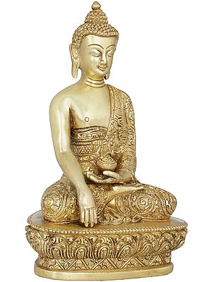 Bhumisparsha Buddha in Fully Carved Robe - Tibetan Buddhist