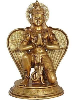 Large Namaste Garuda Adorned with Snakes