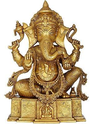 Blessing Lord Ganesha on OM Shri Base