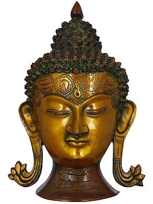 Lord Buddha Wall Hanging Mask - Tibetan Buddhist