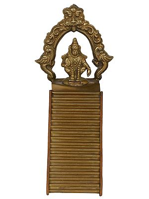 Eighteen Steps of Sabarimala Ayyappa Temple with Lord Ayappa Seated on Top (for Padi Puja)