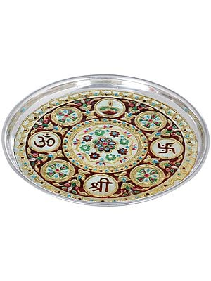 Colorfully Decorated Puja Thali