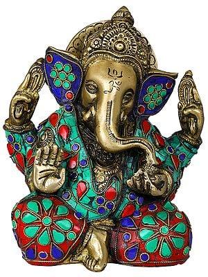 Inlay Murti of Ashirvad Ganesha