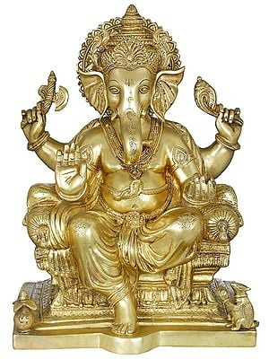 King Ganesha Granting Abhaya