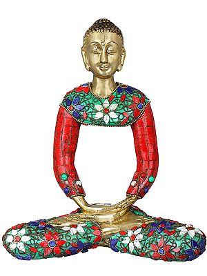 Tibetan Buddhist Stylized Buddha in Meditation