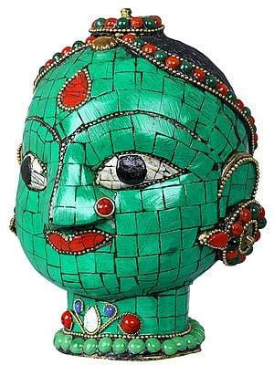 Nicely Braided Devi Head