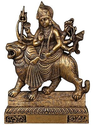 Goddess Durga (Table Piece Flat Statue)