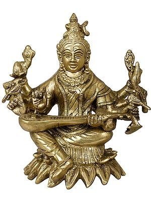 Eight Armed Goddess Saraswati