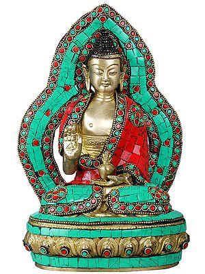 Preaching Buddha on Lotus Pedestal - Tibetan Buddhist