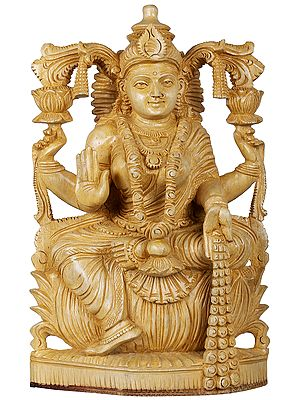 Goddess Lakshmi with Raining Coins