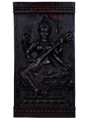 Goddess Saraswati Wall Hanging
