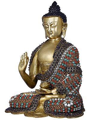 Gautam Buddha Preaching His Dharma - Tibetan Buddhist
