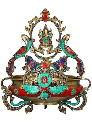 Ringed Lord Ganesha Urli