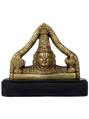 Tirupati Balaji on Wooden Base