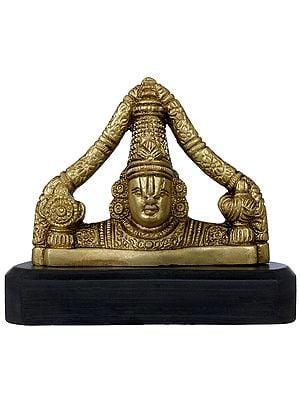Tirupati Balaji on Wooden Base
