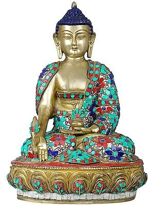 Tibetan Buddhist Medicine Buddha with the Bowl of Medicinal Herbs