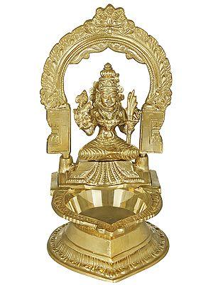 Goddess Rajarajeshwari Large Diya (Lamp)